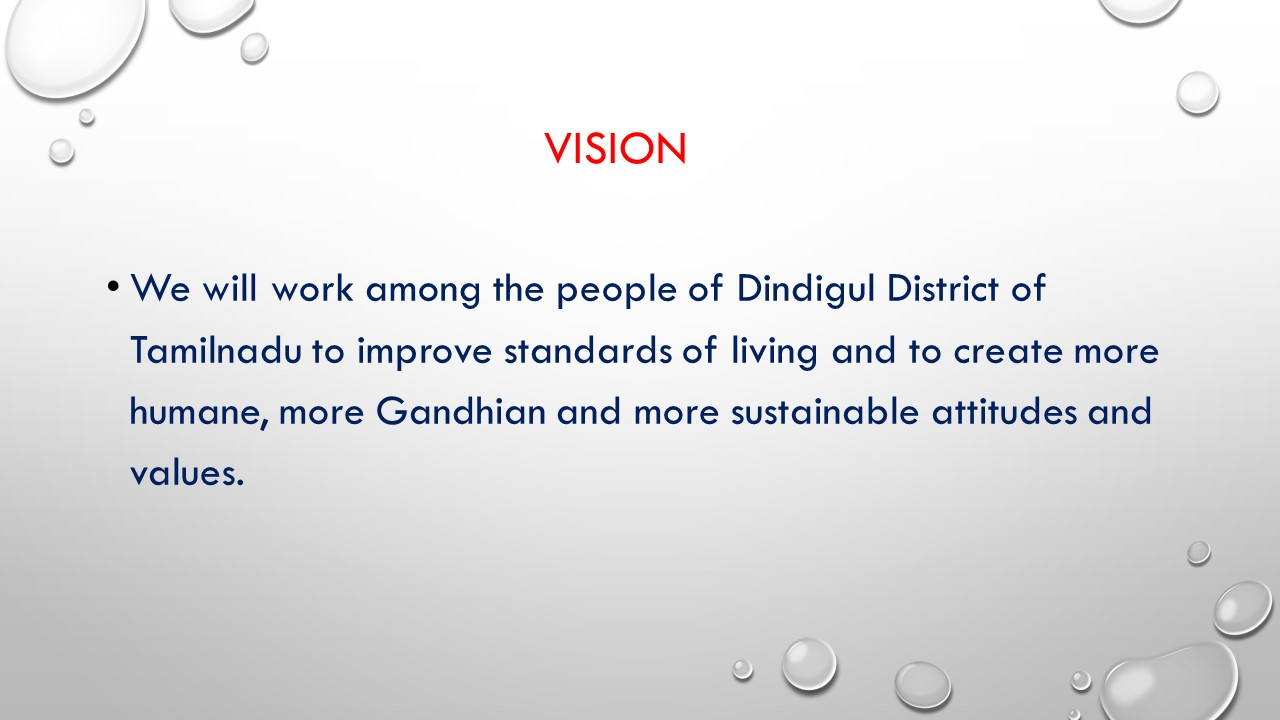 The Vision statement of INS